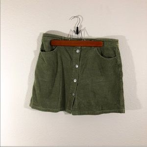 Zara corduroy mini skirt size large